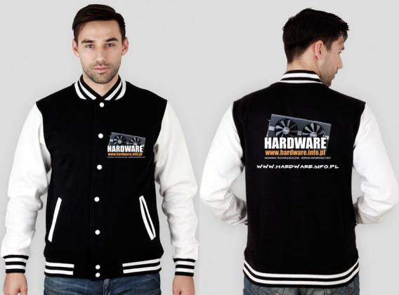 Bluza typu college z logiem Hardware.info.pl