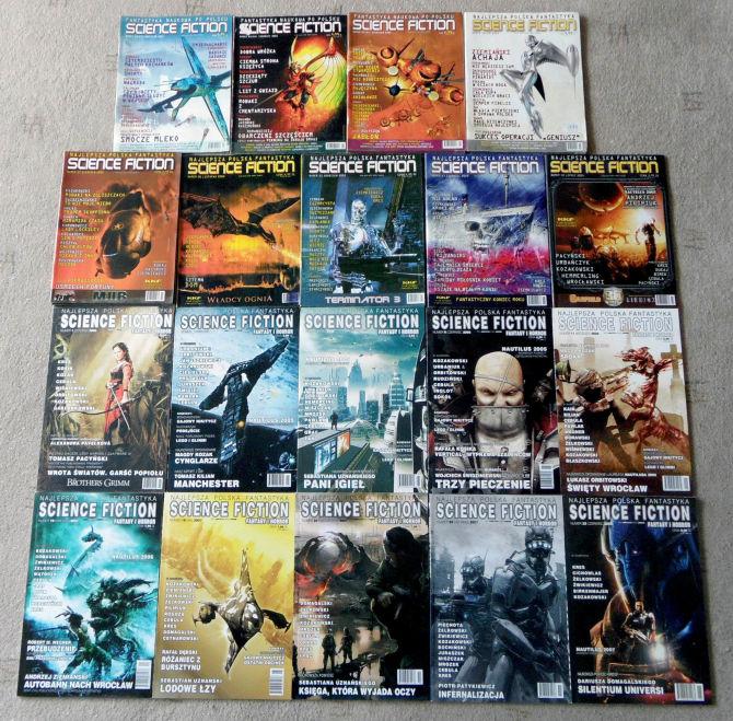 Kilka okładek czasopism z moimi opowiadaniami