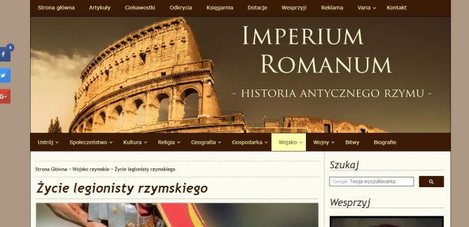 Strona IMPERIUM ROMANUM