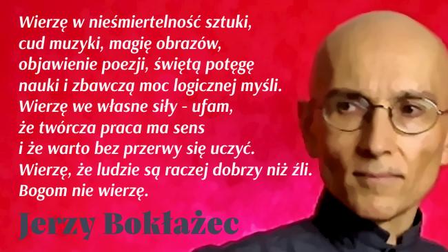 Jerzy Bokłażec - credo