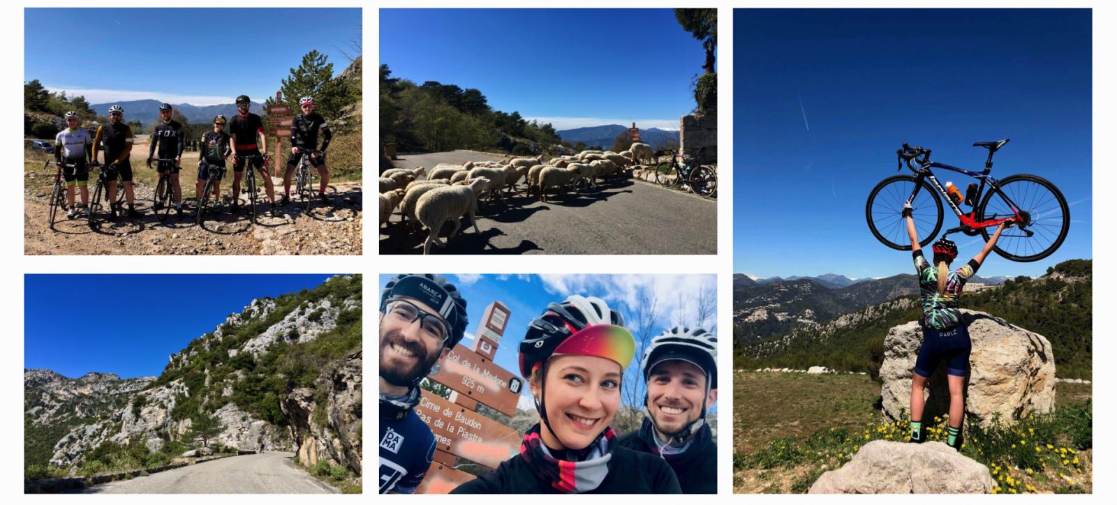 Col de la Madone with friends & She's a Cyclist