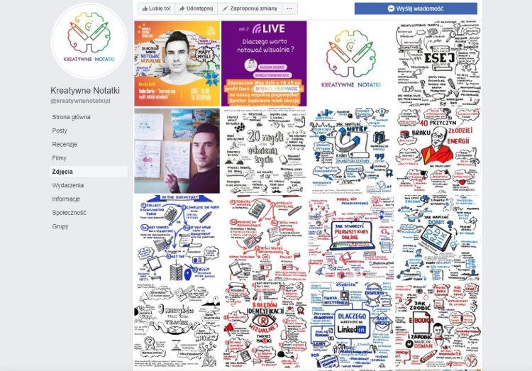 profil Kreatywne Notatki na Facebooku