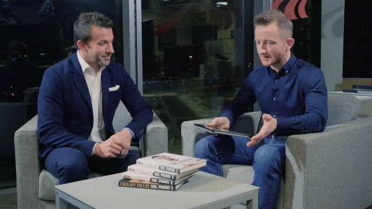 Wywiad z Alessandro Del Piero w siedzibie Sky Sport w Mediolanie