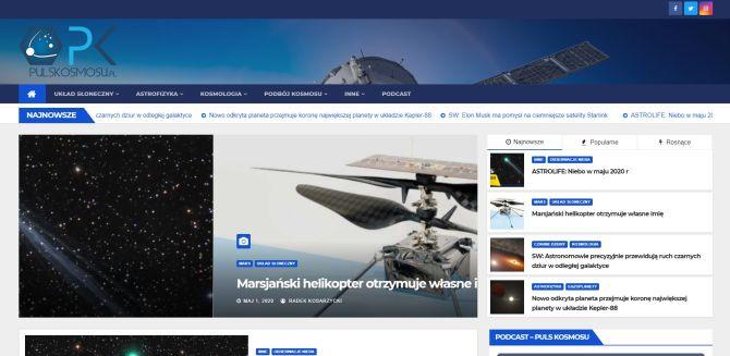Strona Pulsu Kosmosu 2020